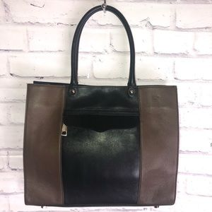 Rebecca Minkoff Black & brown shoulder bag